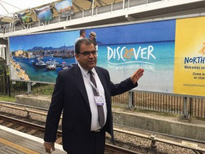 TRNC Minister of Tourism Dr. Faiz Sucuoğlu visited the World Travel Market in London (3 November 2015)