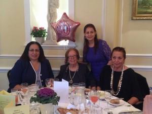 "Ambassador Tuncalı attended the 90th birthday party of Akile Işın, the honorary president of the ""Turkish Women's Philanthropic Association of England"" (4 November 2015)"