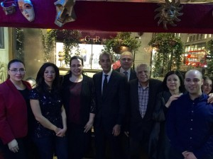 Büyükelçi Oya Tuncalı Kıbrıs Türk işletmesi Salieri Restaurant'ın 40. yıl kutlamasına katıldı
