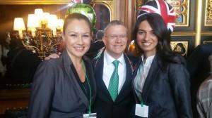Konsolos Esra Emin ve Konsolos Dilşad Şenol Milletvekili Andrew Rosindell'in St. Patrick's Day vesilesiyle düzenlemiş olduğu resepsiyona katıldılar
