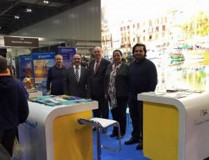 Ambassador Tuncalı visited the TRNC stand at the Travel Show at Excel